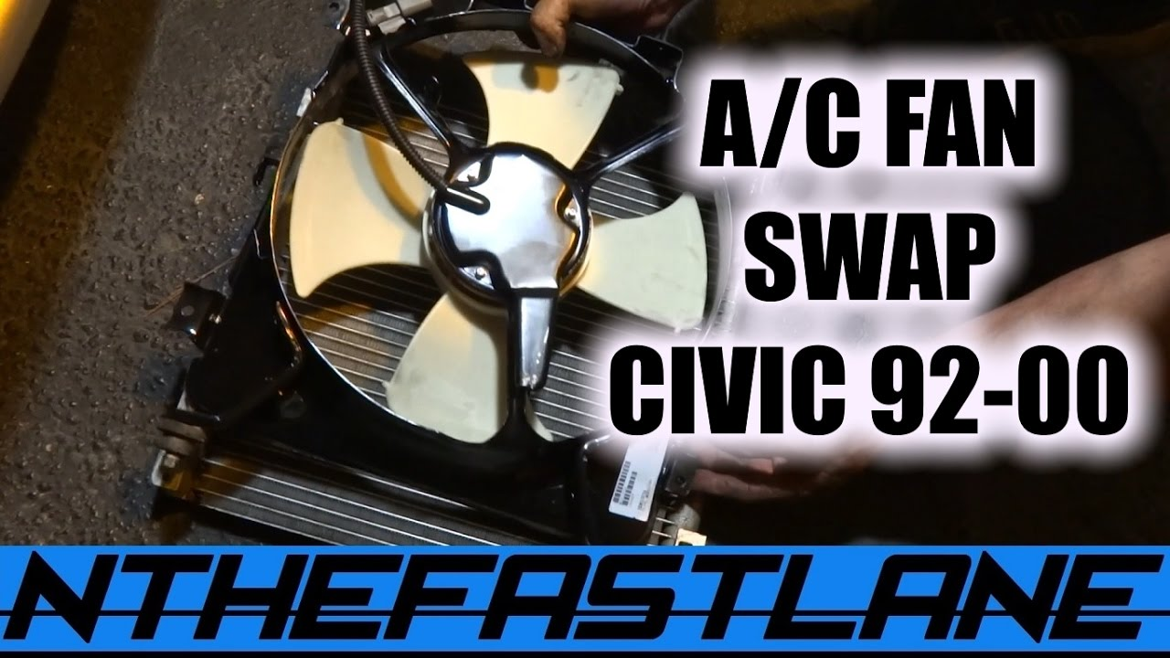 condenser fan how to replace honda civic 92 00  [ 1280 x 720 Pixel ]