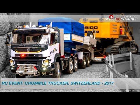 BEST OF RC TRUCK EVENT CHOMMLE, GUNZWIL 2017, SWITZERLAND - MODELLTRUCK,WHEEL LOADER,EXCAVATOR