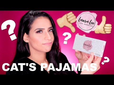 OVER-HYPED? LIVE TEST! LAURA LEE CAT'S PAJAMAS | Review & Swatches | Lamiyaslimani