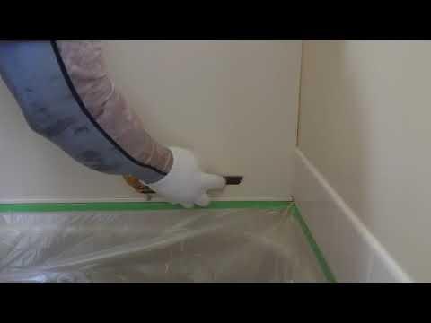 浴槽ユニットバスの壁シリコン付着除去作業