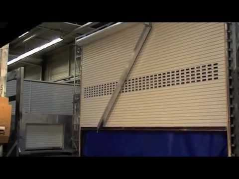Large Industrial Roller Shutter wind resistance solution