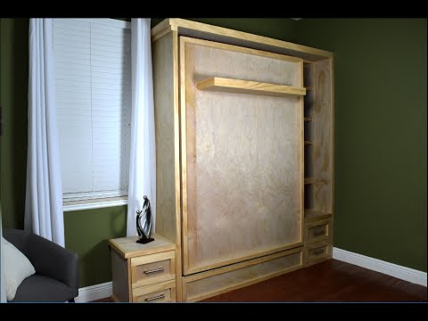 Diy murphy bed build wall bed hack without the hardware kit youtube diy murphy bed build wall bed hack without the hardware kit solutioingenieria Gallery