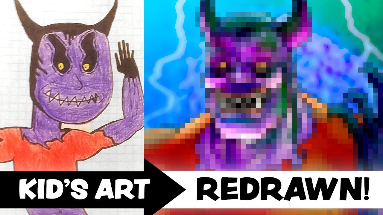 KID'S ART Redrawn by a PROFESSIONAL ARTIST! - Ep.8