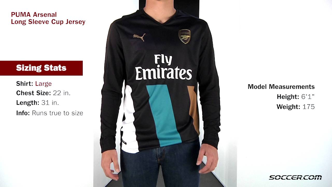 the best attitude 3f9d4 26bc8 PUMA Arsenal Long Sleeve Cup Jersey - YouTube