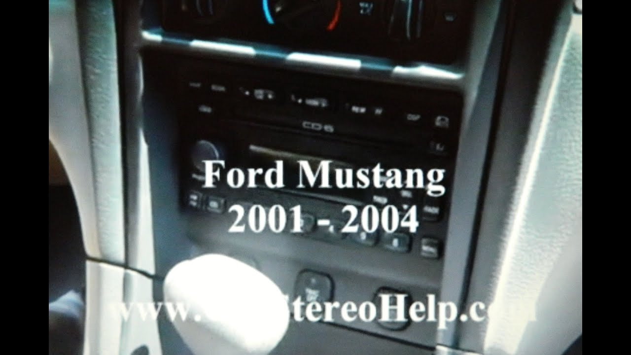 How To Ford Mustang Car Stereo Removal 2001 2004 6 Cd Changer Mach 1 Wiring Diagram Display Dim