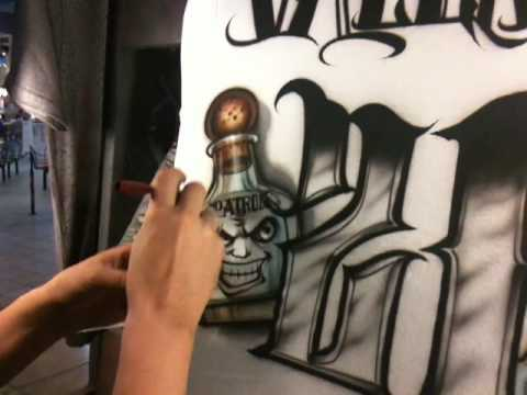 How To Airbrush A 21st Birthday T Shirt By Jaime Rodriguez Part 3