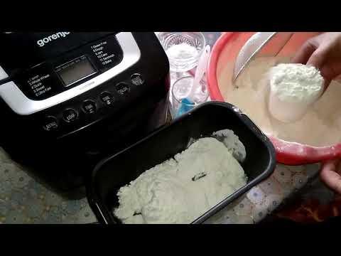 Хлебопечка Gorenje  ВМ 1200 после года работы. Собственный рецепт хлебушка.