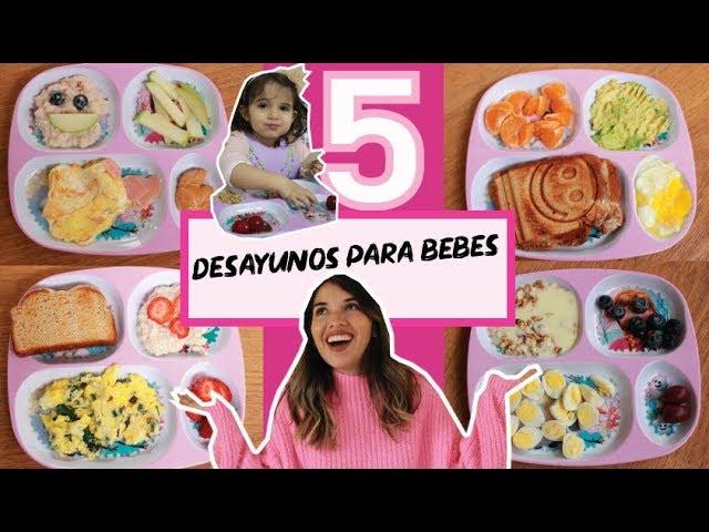5 Desayunos Saludables Para Bebes Y Niños 1 Año A Más Youtube