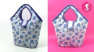 Very Easy Handbag Purse Sewing with Old Clothes | Sonali's Creations