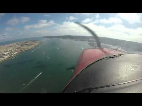 Flying up San Diego Bay 2015 07 12