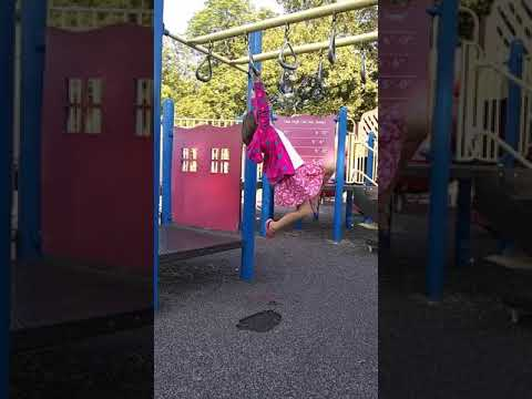 Oakley and her Monkey Bar swing