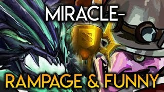 Miracle- on Battle Cup OD RAMPAGE & Funny Game Timbersaw feat Liquid Dota 2