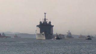 chegada do navio doca bahia na base naval do rio de janeiro marinhadobrasil