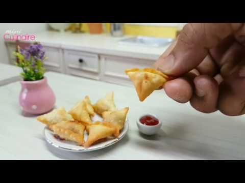 Mini food Potato Onion Samosa | samosa kentang | masak Mini #miniaturecooking
