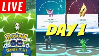 DX1 LIVE: Pokemon GO Eevee Community Day (Day 1)