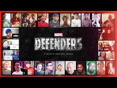 THE DEFENDERS (Marvel) Official Teaser Reaction's Mashup