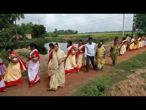 Durga pujo ghat Tula. West Bengal Bankura,chatramore pujo.