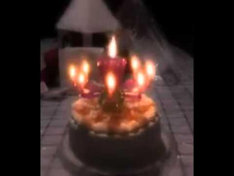เทียนวันเกิด รูปดอกไม้