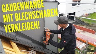 Dachdecker/Gaubenwange mit Prefa Scharen verkleiden/Dress the Gaube with Prefa sheet metal coulters