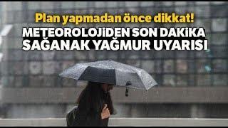Meteoroloji İstanbul İçin Saat Verdi, Sağanak Yağış ve Fırtına Yolda
