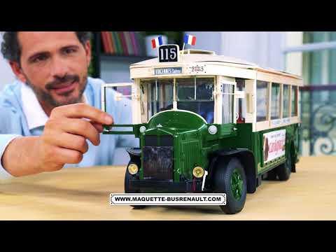 Video Maquette du BUS RENAULT TN6 - Hachette Collections