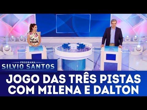 Jogo das 3 Pistas com Milena Toscano e Dalton Vigh | Programa Silvio Santos (18/03/18)