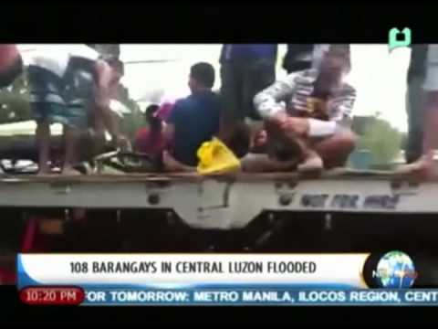 NewsLife: 108 barangays in Central Luzon flooded || August 19, 2013