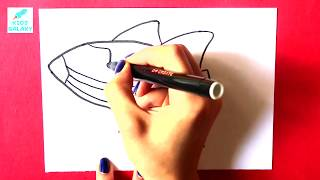 How to draw amazing Galaxy Space Rocket | drawing tutorial video