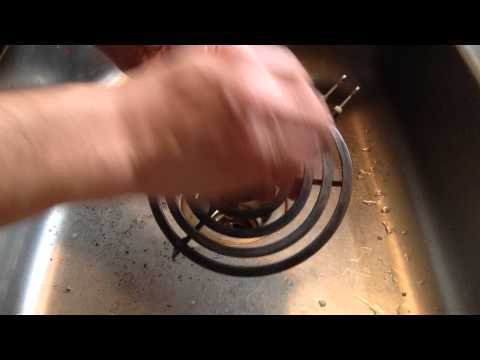 Clean Your Dirty Electric Stove Coils With Tin Foil