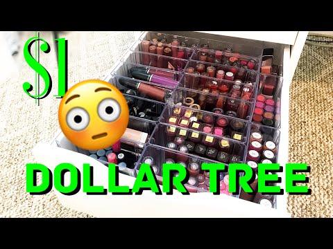 DIY   Dollar Tree $1   Lipstick Organizers