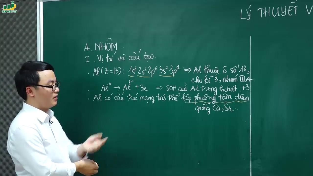 Hóa Học Lớp 12 – Bài giảng Lý thuyết nhôm và hợp chất của nhôm| Thầy Trần Thanh Bình