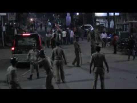 Clash between trinamool congress and bjp at agartala, injured seven, 144 imposed
