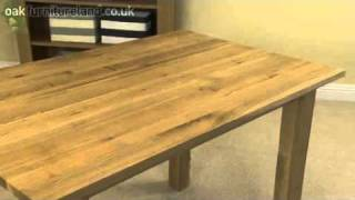 """4ft X 2ft 8"""" Solid Oak Dining Table From Oak Furniture Land"""
