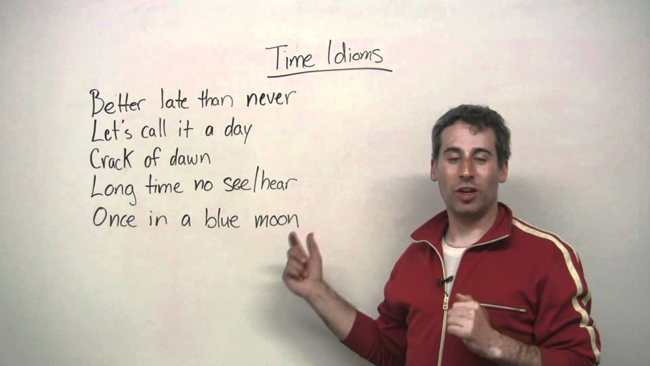 Speaking English - 5 Idioms about TIME