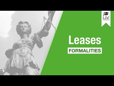Property Law - Leases: Formalities