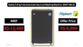 Godrej 5.8 kg Fully Automatic Top Load Washing Machine (GWF 580 A)