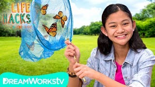 Home Made Butterfly Catcher + Other Outdoor Hacks | LIFE HACKS FOR KIDS