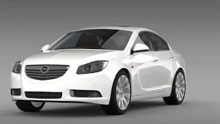 3D Model of Opel Insignia ECOFlex 2008-13 Review