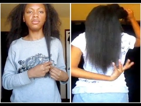 taking out my weave straightening my natural hair youtube