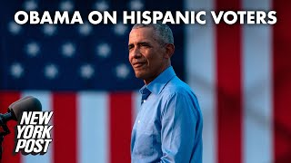 Barack Obama takes jab at Hispanic voters for supporting Trump | New York Post