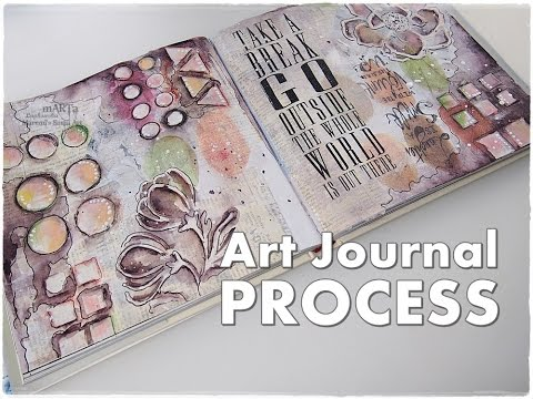 Collage Journal Page Process for Beginners ♡ Maremi's Small Art ♡