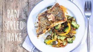 Pan Fried Hake with Anchovy Butter - One Pot Campervan Recipes - Keto / LCHF Camping Ideas