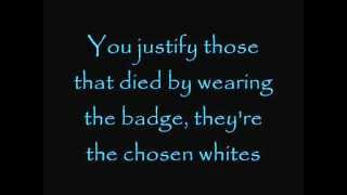 Rage against the machine - Killing in the name of [Lyrics on Screen]