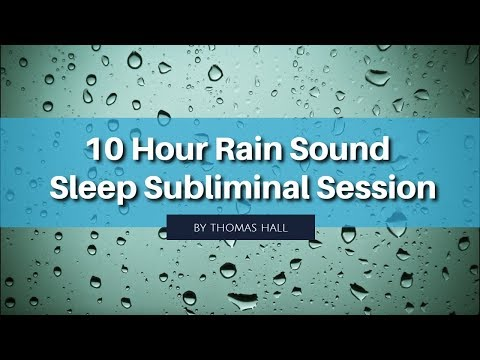 Forget Insults, Criticisms & Judgement - (10 Hour) Rain Sound - Sleep Subliminal - By Thomas Hall