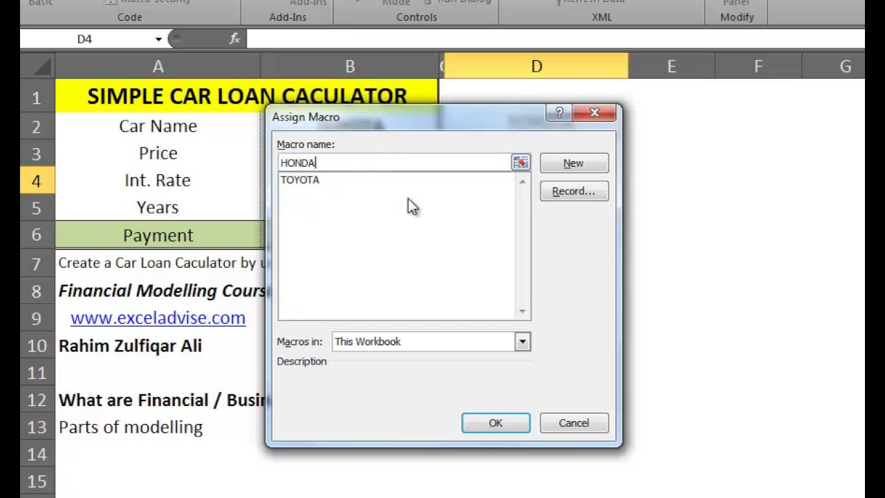 30 what are financial business models create car loan calculator