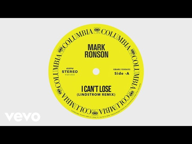 Mark Ronson - I Can't Lose (Lindstrøm Remix) [Audio] ft. Keyone Starr