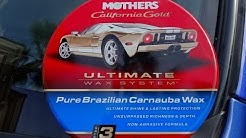 Mothers Pure Brazilian Carnauba Wax Review and Test Results with Water Test