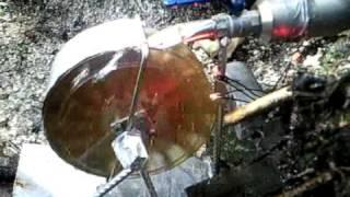Wasserrad erzeugt  Strom!!!