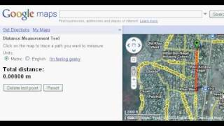 Google Maps Tutorial - How to measure distance between two places