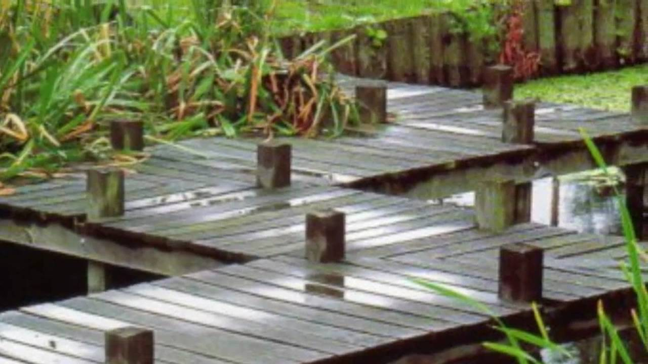 DIY build japanese garden bridge - YouTube